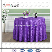 Hotel Usado Poliéster Tela Jacquard Customized Fancy Wedding Table Pano