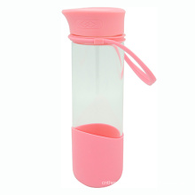 Single Wall Glass Tea Bottle with Strainer and Loop 500ml