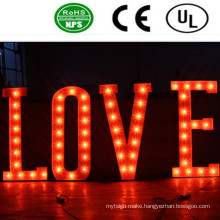 High Quality LED Front Lit Iron Bulb Letter Sign