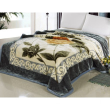 2014 Hot Selling Beautiful Flowers Printed Blanket