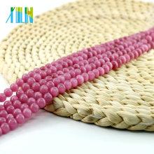 X000708 Rose Ronde Oeil de Chat Perles pour la Fabrication de Bijoux Chine En Gros Chats Oeil Perles