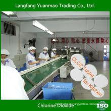 Desinfectante muy seguro Tableta de dióxido de cloro para la desinfección de la cocina