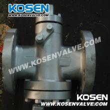 Equilibrio de presión invertida lubrica válvulas de macho (X47H)