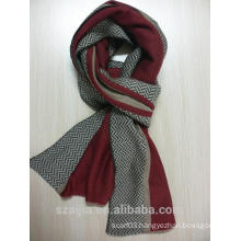 Fashion keep warm men jacquard knitted scarf