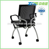 806-02 series medium mesh conference new design folding seat chair with tablet