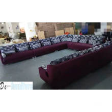 Salon Furniture, Modern Sofa, U Shape Fabric Sofa (NG920)