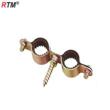 Pince à tuyau en acier au carbone double M7 avec clip de tuyau en zinc plaqué couleur vis en caoutchouc m7x30
