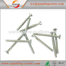Factory direct sales all kinds of hirao flat head zinc plated chipboard screw