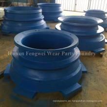Piezas de recambio de la trituradora de minerales Concave Mantle Bowl Liner
