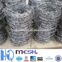 Alambre de púas galvanizado y alambre de púas revestido de pvc (fábrica directa)