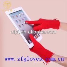 Pantalla táctil micro guantes de terciopelo para niñas