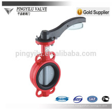 ductile iron standard wafer center line handle operate ptfe butterfly valve dn200