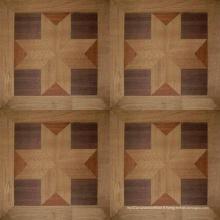 Plancher de mosaïque en bois d'ingénierie de plancher de chêne français Versailles récupéré