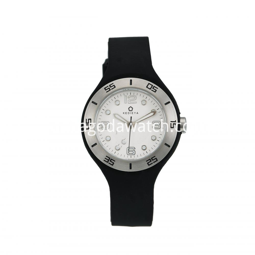 Women S Black Silicone Watch