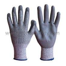 Cut 5 Hppe Glove with PU Coating