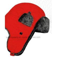 Модная зимняя шапка / кепка с мягким мехом