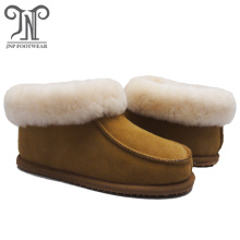 Men soft fur moccasin house indoor sheepskin slippers