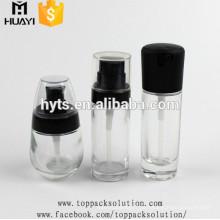 15 ml / 30 ml / 50 ml / 100 ml glas leere flüssige grundlage flasche für kosmetische lotion
