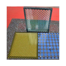 China DECORATIVE TEMPERED CERAMIC PATTERN FRIT BACK PAINTED OPAQUE LAMINATED GLASS PRICE