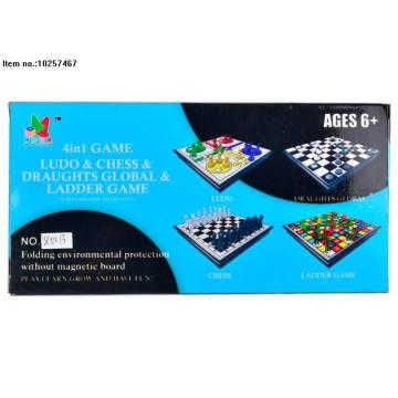 4 en 1 juego de ajedrez para niños