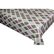 Pvc Printed Tablecloth with Fabric Backing
