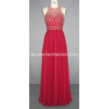 Red Friesen lange Brautjungfer Abendkleid