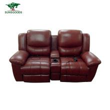 PU Leather Living Room Sofa Comfortable Recliner Sofa Home Theater Furniture