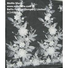 Кружева ткань для свадебное платье дизайн моды Оптовая кружева цветок LC1410014