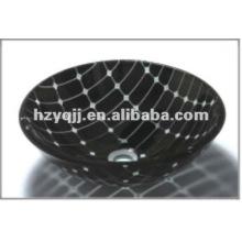 Современный дизайн двойной слой круглый красочный миска санузел стеклянный тазик стеклянный сосуд раковина