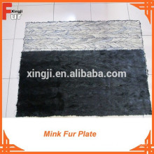 First Quality Black Color MINK Back Paw Mink Fur Plate