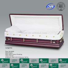 Artesanato de caixões de madeira esculpidas com Chiness Lotus Carving