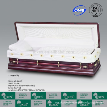 LUXES European American Style Solid Wood Casket Coffin For Funeral_China Casket manufactures