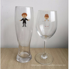 Bride and Groom Glasses - Wedding Toasting Set of 2 - Couples Gifts