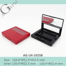 Ein Grid rechteckige Lidschatten Fall mit Spiegel & Fenster AG-LN-1025B, AGPM Kosmetikverpackungen, benutzerdefinierte Farben/Logo