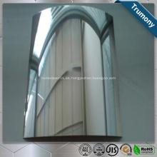 Hoja de espejo de aluminio recubierto de color para decoración