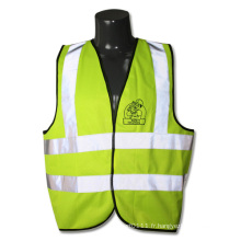 Gilet de sécurité de circulation haute visibilité Ce En471 bandes réfléchissantes (YKY2820)