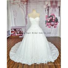 2016 besten Preis Spalte Brautkleider mit langen Ärmeln Elfenbein