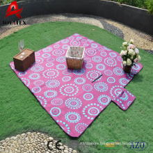 High quality waterproof portable print polar fleece picnic blanket