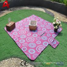Высокое качество водонепроницаемый портативный печать флиса одеяло для пикника