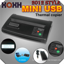 2016 productos de tendencias Mini Copiadora Térmica de Tatuaje USB, dispositivo de maquillaje permanente negro transferencia de la máquina