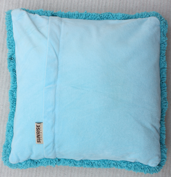 Microfiber Cushion Blue Color