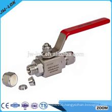 Stainless steel high temperature socket weld ball valve