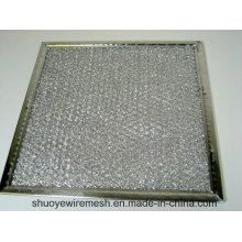 Aluminium / galvanisation / filtre de graisse de déflecteur d'acier inoxydable