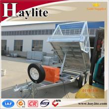 Customized dump trailer with hydraulic cylinder