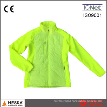 Fleece Bonded Women Winter Nylon Padded Color Softshell Jacket