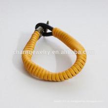 Moda Pulseira de couro pulseira mudança de cor como Primavera pulseira PSL028