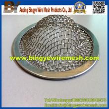 Acero inoxidable pequeño filtro de metal Mesh Cap