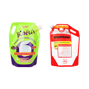 High Barrier Reusable Liquid Packaging Pouch With Spout