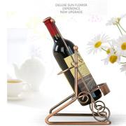 Iron metal wine bottle rack shelf