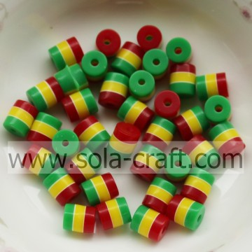 Factory Wholesale 5*6 MM Red Yellow Green Resin Beads